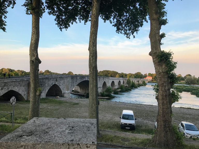 Bridges around the world - Bridge over the river in Beaugency, France